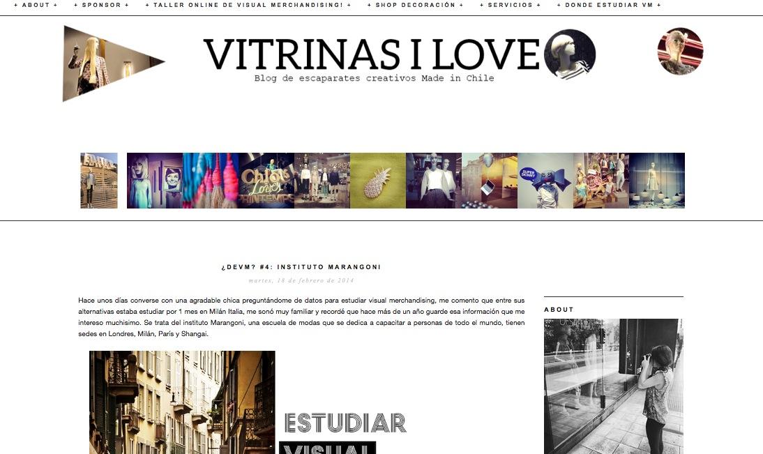 Vitrinas I Love, el primer blog chileno sobre escaparates