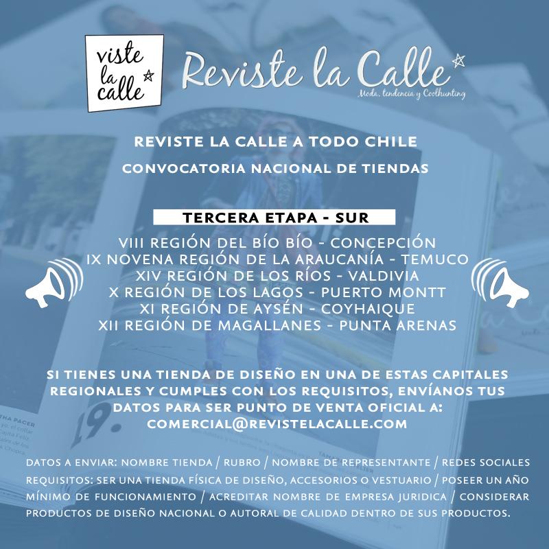 ¡Convocatoria Nacional de Tiendas RevisteLaCalle!