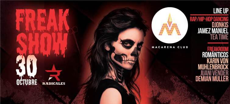Concurso: ¡Participa por una entrada doble para la fiesta de Halloween The Freak Show!