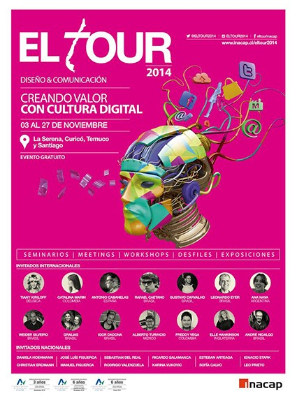 Festival El Tour: Charlas y exposiciones de Diseño durante noviembre