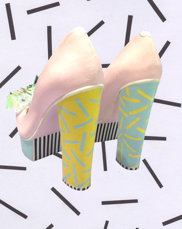 Zapatos y accesorios ilustrados en el trabajo de la artista, Rosy Nicholas