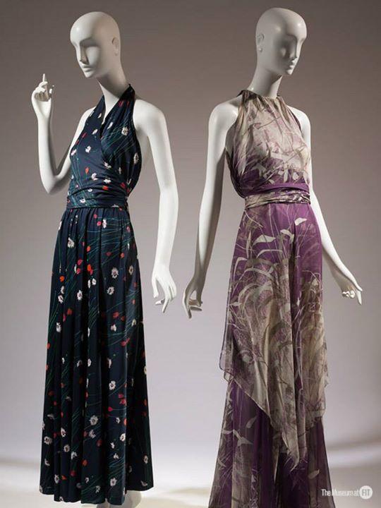 """La exhibición """"YSL + Halston: Fashionising the 70's"""" en el FIT"""