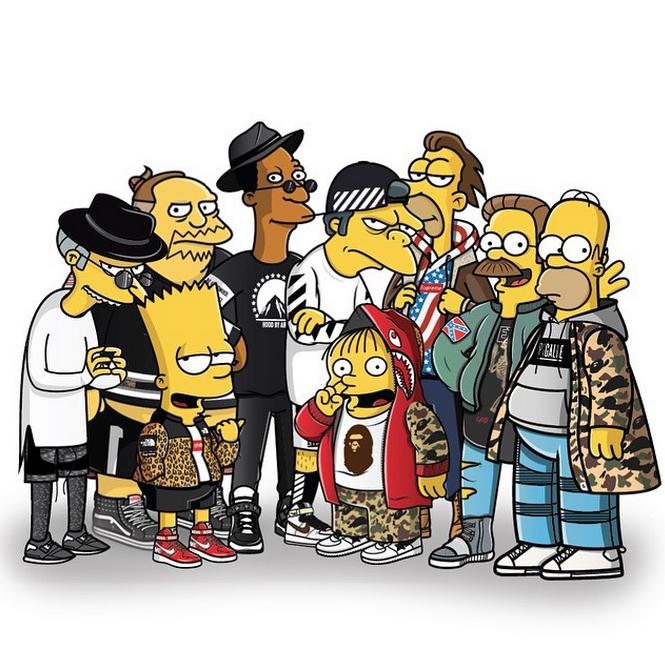 La versión streetwear de Los Simpson, por Tommy Bates