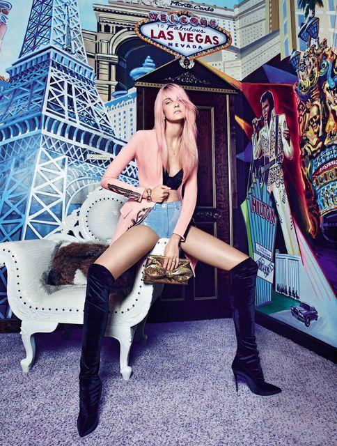 Caroline Trentini y su pelo rosa para Vogue España, 2015