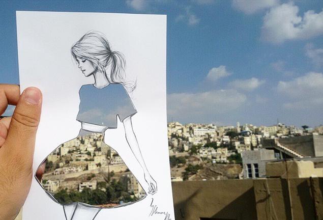 La ciudad como estampado, en las virales ilustraciones de moda de Shamekh Bluwi