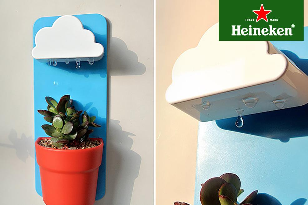 #HeinekenLife: Rainy Pot, la nube que riega las plantas por ti