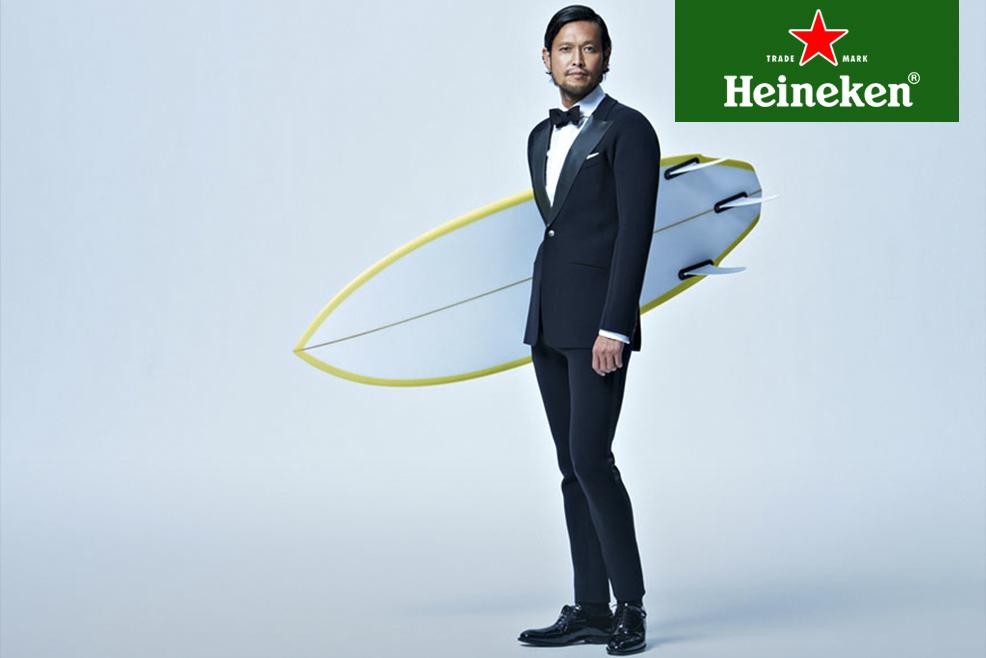 Traje de vestir térmico, especial para surfistas con estilo #HeinekenLife