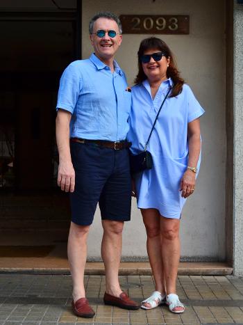 Andy Santagostino y Pamela Lucero