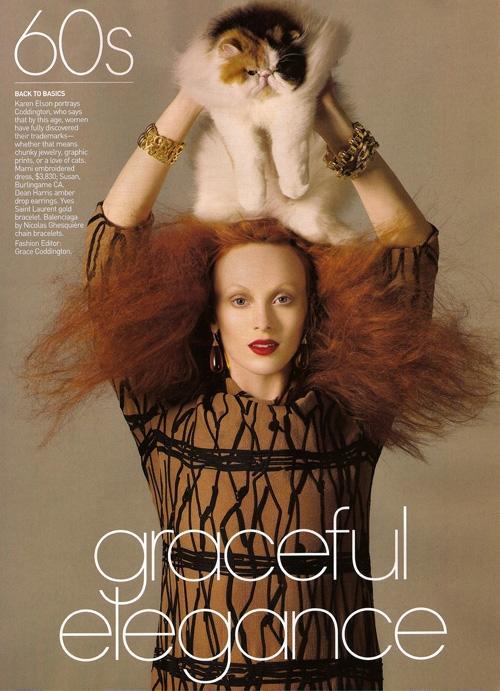 Las mejores fotografías editoriales de Grace Coddington en Vogue