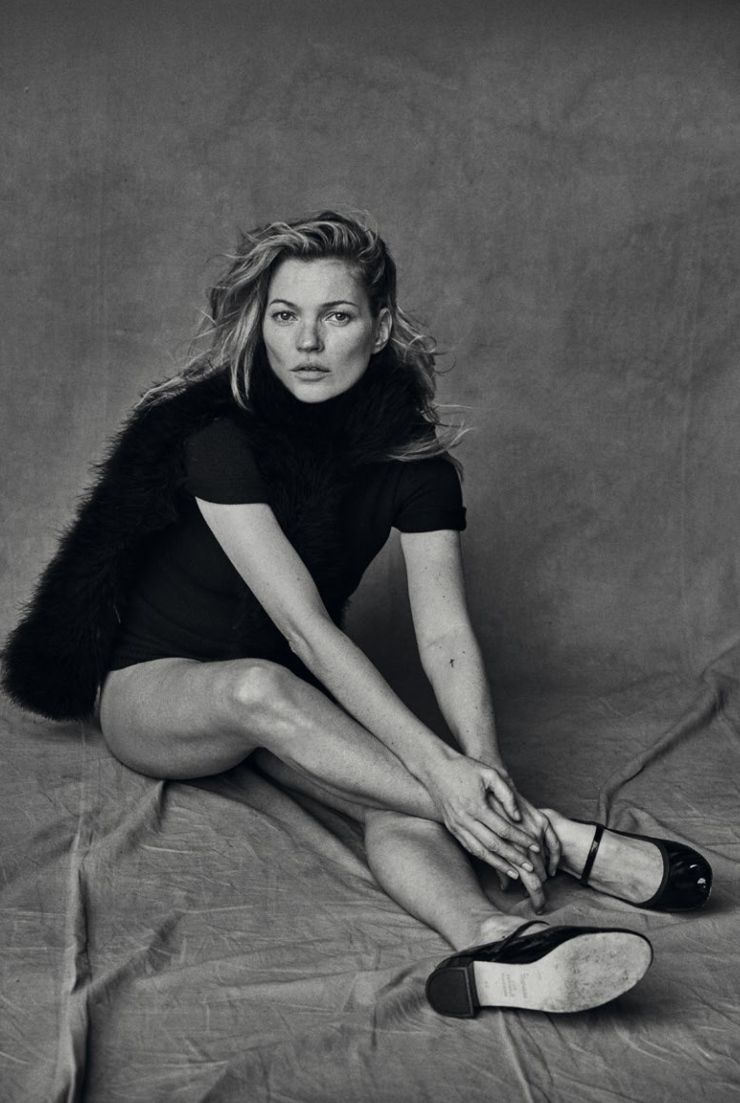 Kate Moss sin Photoshop por Peter Lindbergh, 2015