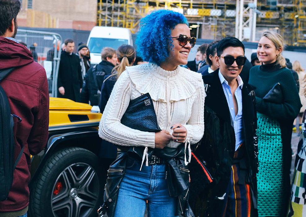Diversidad en las calles londinenses: Street style London Fashion Week Fall/Winter 2016