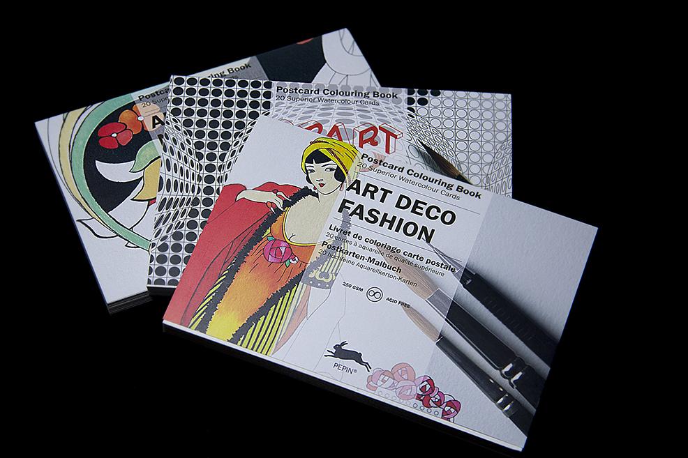 Concurso Contrapunto: Gana un libro con postales para colorear Art Nouveou, Op Art o Art Deco Fashion