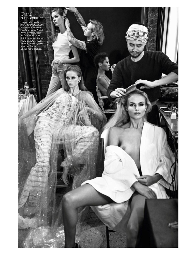 El backstage de la moda en Vogue Paris, junio 2016