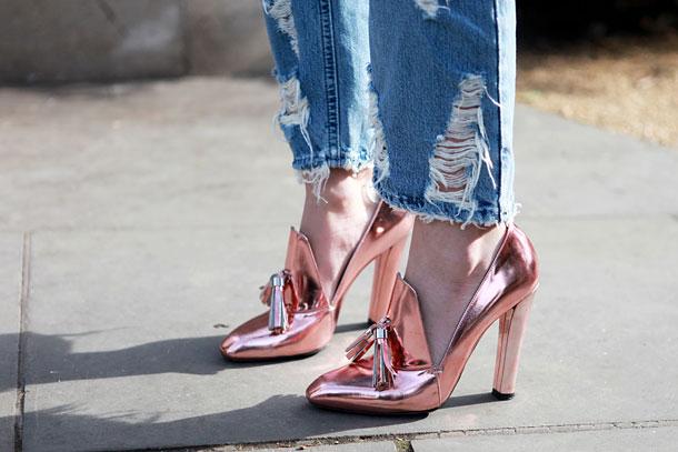 Zapatos rose gold, una tendencia ideal de otoño