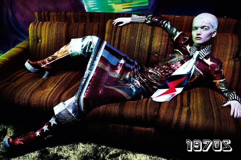 """""""As Time Goes By"""", la editorial de Mario Testino para celebrar los 100 años de Vogue UK"""