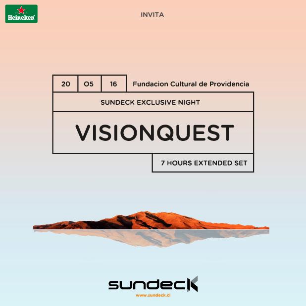 Concurso @Heinekencl: Regalamos entradas para Visionquest – Sundeck Exclusive Night, el 20 de mayo