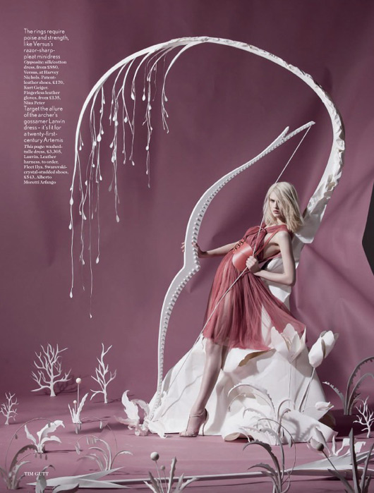 Olimpiadas y moda en la editorial de Vogue UK, 2012