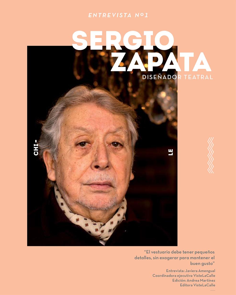 """Entrevista al diseñador teatral Sergio Zapata: """"El vestuario debe tener pequeños detalles, sin exagerar para mantener el buen gusto"""""""