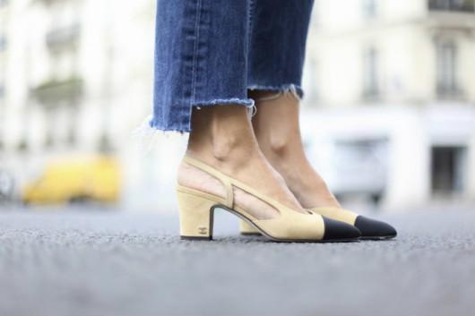 Los zapatos bicolor de Chanel están de vuelta