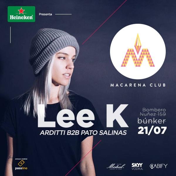(Cerrado) Concurso Heineken: ¡Gana entradas para la fiesta Macarena Club con Lee K!