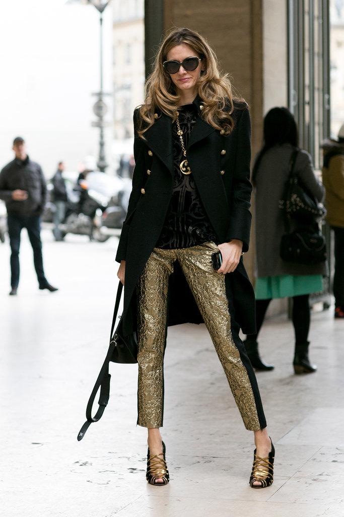 Inspiración visual: Pantalones metalizados