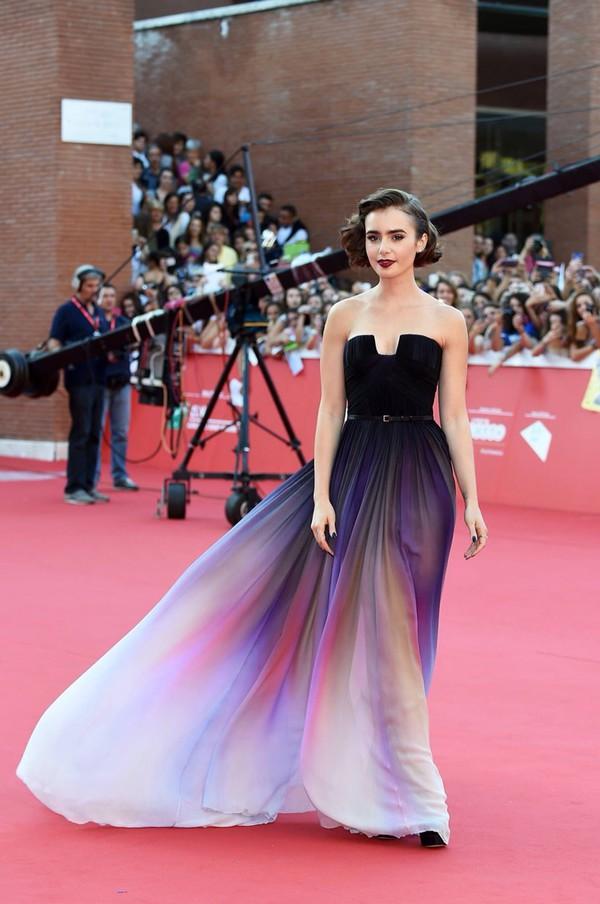 Inspiración visual: El estilo de alfombra roja de Lily Collins