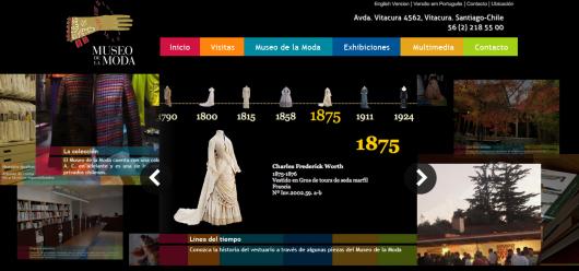 (Entre paréntesis): Nueva página web del Museo de la Moda incluye línea de tiempo