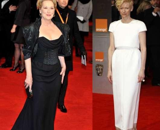 El blanco y negro como tendencia principal en los BAFTA 2012