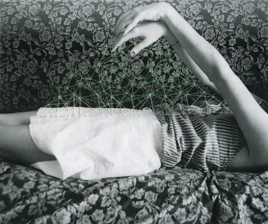 Puntadas de hilo + Fotografías en blanco y negro por María Aparicio Puentes