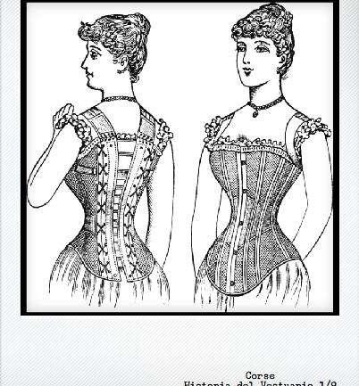 Segunda mitad S. XIX – La primera lencería: el Corsé