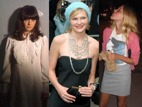 Zooey, Kirsten y Chloe: Tres estilos de culto