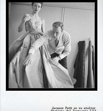 El breve hacer del diseñador Jacques Fath en los 50's
