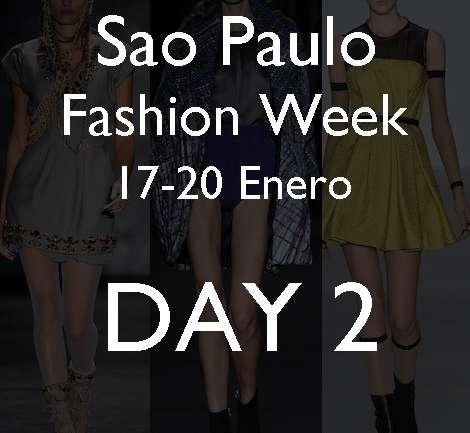 Sao Paulo Fashion Week: María Bonita, Reinaldo Lourenço, María García, Alexandre Herchcovitch, Cori, Forum Tufi Duek y Samuel Cirnansck.