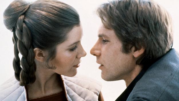 Una pareja inesperada en imágenes: Carrie Fisher & Harrison Ford