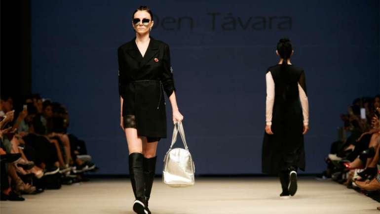 Den Távara, uno de los nuevos talentos que se presentó Lima Fashion Week 2017