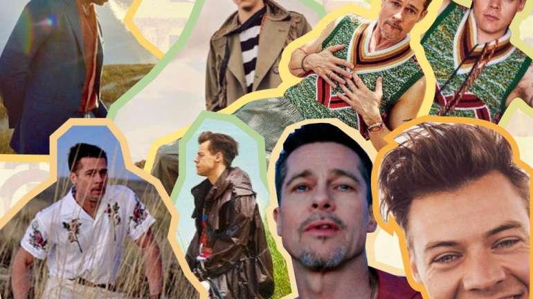 Brad Pitt y Harry Style: ¿Quién imitó a quién?