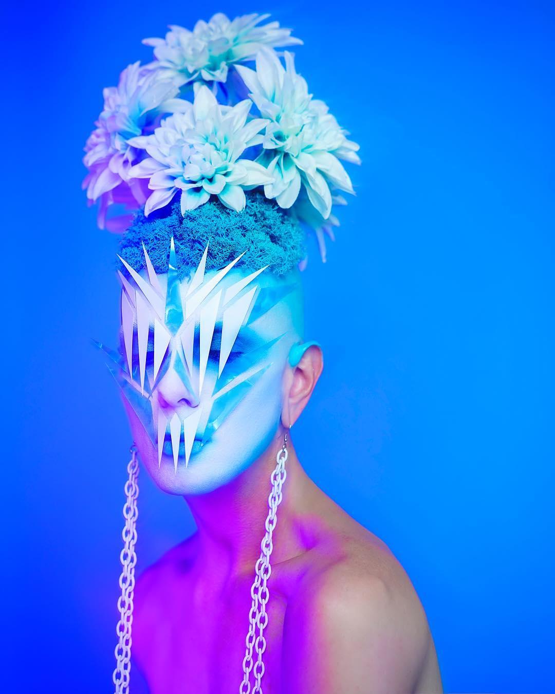 Ryan Burke, el makeup artist que realiza looks surreales y es embajador de Pat McGrath