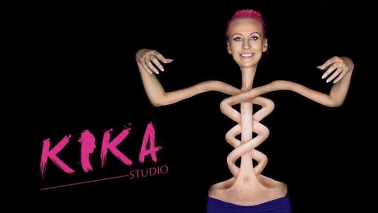 Mirjana Kika Milosevic, la youtuber que realiza los más increíbles body paints