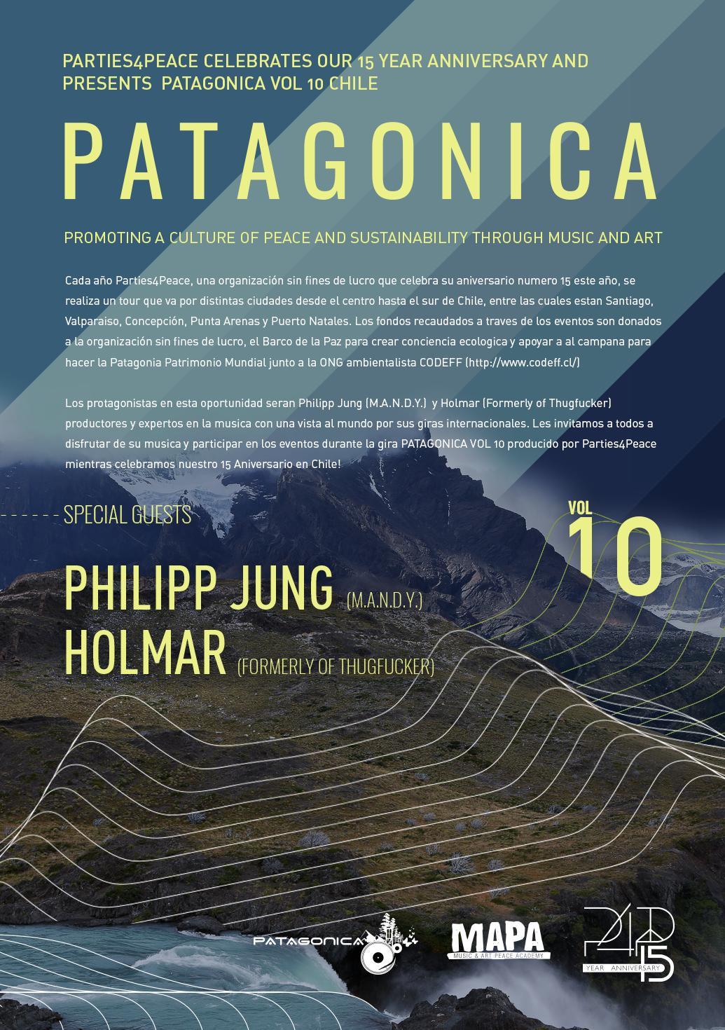 Vuelve Patagonica, la gira musical organizada por Parties4Peace