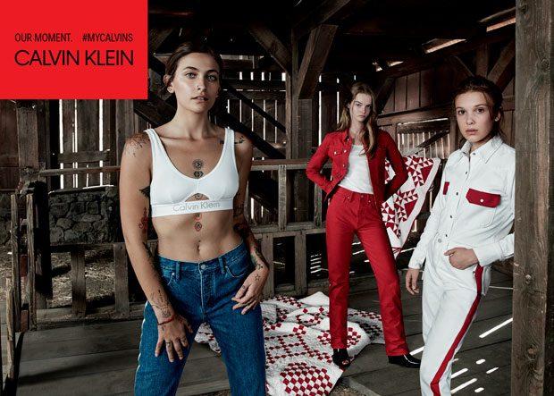 Millie Bobby Brown y Paris Jackson para Calvin Klein