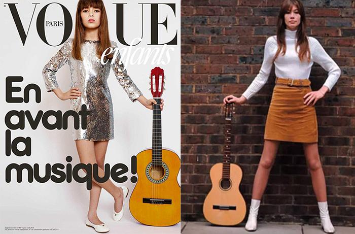 Inspiraciones de moda: Françoise Hardy y una editorial infantil de Vogue Paris