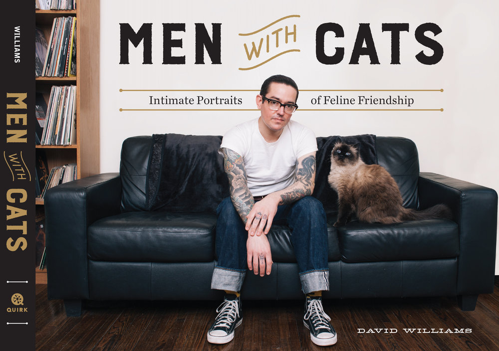 "Amor por los gatos: ""Men with cats"", el libro fotográfico de David Williams"