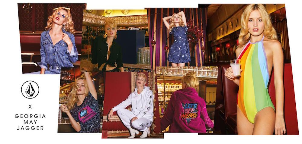 La colección de Volcom x Georgia May Jagger