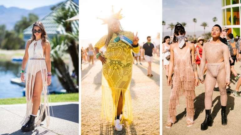 Tendencia en Coachella: Trajes de baños y ropa interior en vez de pantalones