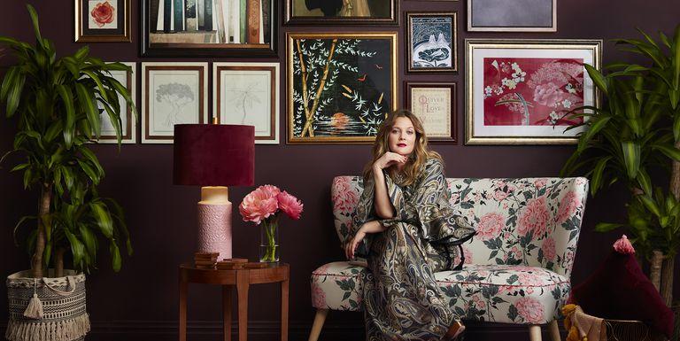Drew Barrymore, entre el maquillaje y la decoración