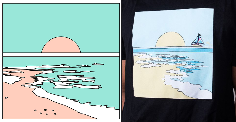 El plagio de la marca Pink Dolphin a la ilustradora chilena María José Carlier