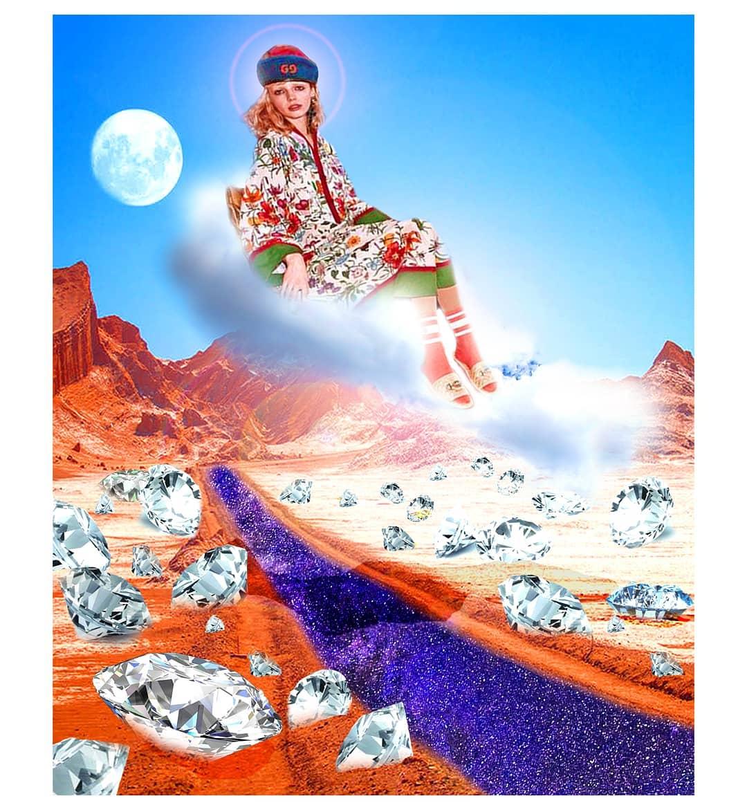 Fantasía y moda: Los collages de @caro_artwork