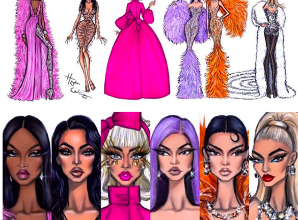 Las ilustraciones de Hayden Williams post Met Gala