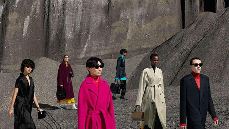 La campaña otoño-invierno de Balenciaga es un contraste entre los paisajes y las prendas