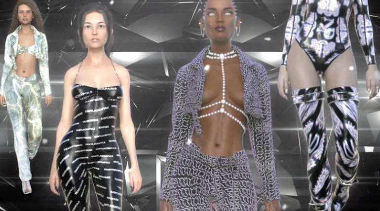 Trashy Muse, la marca que implementó el primer desfile compuesto solo por modelos virtuales